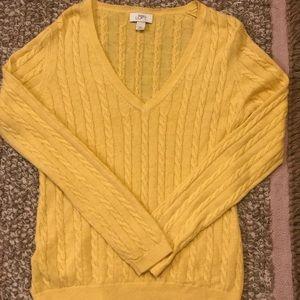 Loft mustard yellow sweater